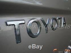 Toyota Tacoma 1998-2004Tailgate TOYOTA &TACOMA Chrome Emblem Kit Genuine OEM