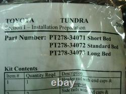 Toyota Tundra 2021 6.5' Bed Deck Rail System Kit Genuine OE OEM