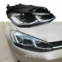 VW GOLF MK7.5 HEAD Lamps LED DRL BI-XENON GTD SWIPE SEQUENTIAL INDICATOR UK