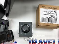 VW T6 Power Folding Mirror Kit Genuine Mirrors & Switch 2015 Onwards Brand New
