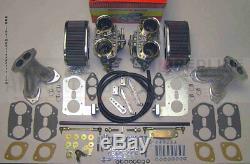Weber Carburetor Kit VW Bug & Type 1 Dual 44 IDF Redline Kit with Genuine Webers