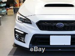 White/Amber Switchback/Sequential LED Fog Bezel DRL Kit For 18-20 Subaru WRX/STi