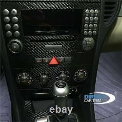 2005-2008 Mercedes Benz Slk R171 Real Raw Matte Carbon Fiber Dash Trim Kit