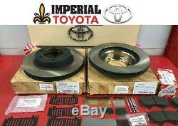 2007-2014 Toyota Fj Cruiser Véritable Disques De Freins Avant Oem Pad Kit Cales & Pins