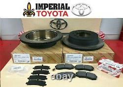 2010-2020 Toyota 4runner Véritable Oem Rotors De Frein Arrière Tcmc Pad Kit & Shims