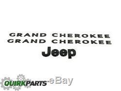 2013-2014 Jeep Grand Cherokee Black Emblem Kit Mopar Authentique Plaque Signalétique Oem Nouveau