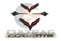 2014-2019 Corvette C7 Véritable Gm Carbone Emblem Noir Flash Kit 23465587