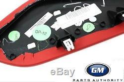 2016-2018 Kit De Garniture Intérieure De Protection Pour Genou Chevrolet Camaro 84095812 Rouge Oem Véritable