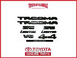 2016-2019 Kit De Superposition D'emblème Blackout D'emblème Toyota Tacoma Véritable Oem Pt948-35180-02