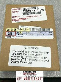 2020 Highlander Xle Blackout Emblem Kit (pt948-48201-02) Véritable Pièce Toyota