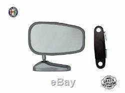 2x Außenspiegel Spiegel Fiat 124 128 130 Araignée Universel Breiter Fuß Lh Rh Ovale
