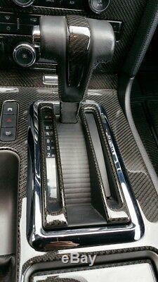 Accessoires Intérieurs Du Kit De Tableau De Bord En Fibre De Carbone Véritable Pour Ford Mustang 2010-up With Nav