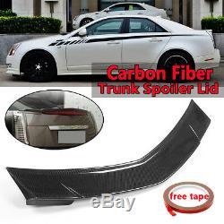 Arrière En Fibre De Carbone Véritable Coffre Spoiler Couvercle Wing Pour Cadillac Cts Sedan 2008-2013