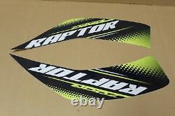 Autocollants Raptor 700 Decals Graphics Kit Stickers Genuine Yamaha 700r Stock Oem Green #13