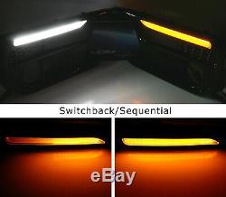 Blanc / Ambre Switchback / Séquentielle Led Fog Bezel Drl Kit Pour Subaru Wrx 18-20 / Sti