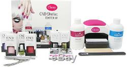 Cnd Shellac Deluxe 13 Nail Starter Kit Ongles Chique 48w Lampe Led 100% Authentique