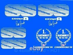 Commodore Hdt Vk Group A Ss Silver Decal Sticker Kit Guards Boot Grille Genuine