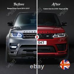 Complet Range Rover Sport 2013-2017 À 2018+ Kit Facelift (phares Authentiques)