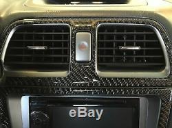 Convient 2005-2007 Subaru Impreza Wrx / Sti Réel En Fibre De Carbone Dash Kit Garniture