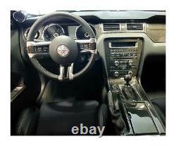 Dash Trim Kit Pour Ford Mustang 10 -14 Avec Intérieur De Navigation Fibre De Carbone Réel