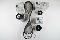 Entraînement Véritable Moteur Mercedes Benz Serpentine Belt + Poulie Component Kit Oem