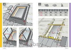 Fenêtre De Toit Véritable Velux Accès Skylight 45x55 CM Loft Rooflight Flashing Kit