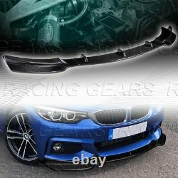 Fit 2014-219 Bmw 4-série F32 F33 F36 M Sport Real Carbon Fiber Front Bumper Lip