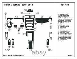 Garniture Dash Réelle En Fibre De Carbone Kit Pour Ford Mustang 10 -14 Witho Intérieur De Navigation