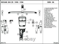 Garniture Dash Réelle En Fibre De Carbone Kit Pour Nissan 300zx 1990-1996 Tableau De Bord Intérieur