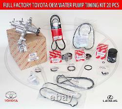 Genuine Lexus Gs300 Is300 02-05 Full Factory Toyota 20 Pcs Timing Belt Kit-pump