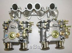 Kit 8 Carburateurs Weber Vw Dual 40 Dcoe Moteurs Lapin Golf Scirocco Dasher