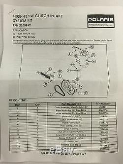 Kit D'amélioration De Courroie D'admission D'embrayage D'origine Pour Polaris Rzr Xp1000 Xp 1000 4 Rzr 2205862