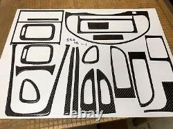Kit De Garniture Dash En Fibre De Carbone Noir Réel Pour Subaru Impreza Outback 1997-2001