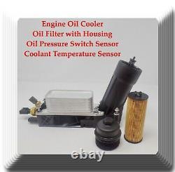 Kit De Refroidisseur D'huile Moteur +filtre À Huile Withhousing+oil Pressure & Temperature Sensors
