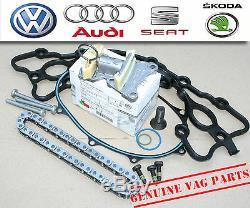 Kit De Réparation Pour Chaîne De Distribution Et Tendeur D'origine Pour Caméscope Audi A3 S3 A4 A6 2.0 Tfsi / 2tfsi