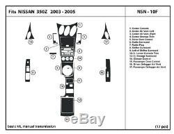 Kit De Tableau De Bord En Fibre De Carbone Véritable 350z 03-05 Accessoires De Garniture Intérieure Trans-