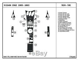 Kit De Tableau De Bord En Fibre De Carbone Véritable Pour 350z 03-05 Accessoires De Garniture Intérieure Automatique