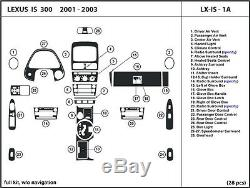 Kit De Tableau De Bord En Fibre De Carbone Véritable Pour Lexus Is 300 2001-2003 Sans Navigation