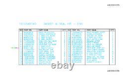 Kit Véritable De Joint Moteur Subaru 2006-2009 Legacy 2006-2008 Forester Ej253 Oem