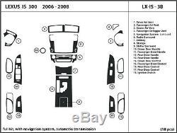 Lexus Is 250/300 2006-2008 Automatique Avec Garniture De Kit De Tableau De Bord En Fibre De Carbone Véritable