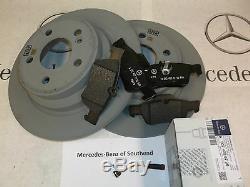 Mercedes-benz Classe E Véritable Frein Arrière 212 Pads, Disques & Sensor Kit Pack
