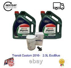 New Genuine Ford Transit Custom 2016- 2.0l Ecoblue Kit De Service Inc 10l Ford Oil