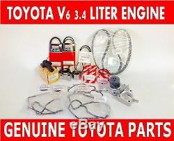 Nouveau Genuine Toyota Oem 3.4 Litre 5vzfe V6 Complet 19pcs Courroie Et kit De Pompe