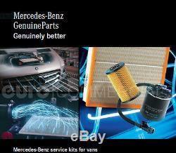 Nouveau Service D'origine Mercedes Sprinter W906 Om651 Kit Avec Huile Moteur Mb228.51