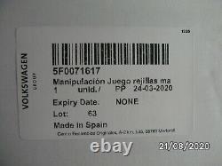 Nouveau Siège Authentique Leon 17 Cupra R Front Grille Kit Copper Gloss Black 5f0071617