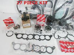 Nouveau Toyota Oem 3.4 Véritable L 5vzfe V6 Complete 27 Pcs Kit Courroie & Timing Pompe
