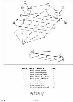Nouveau Véritable Kit À Rayures Oem Hustler 122842 Pour Les Ponts À Décharge Latérale X-one Seulement