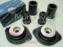 Paire Meyle Front Top Mount Mounts Bump Stopp & Covers Mk1 Vw Golf Gti Scirocco
