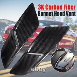 Paire Real Carbon Fibre Moteur Hood Vents Kit Corps Pour Ford Mustang