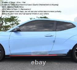 Pièces D'origine Oem Jupes Latérales Body Kit Trim Pour Hyundai 2019 2020 Veloster N
